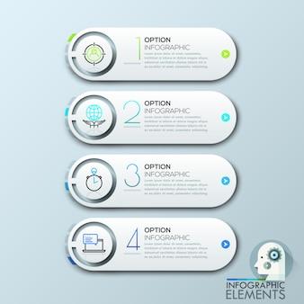 Minimales design für infografiken.