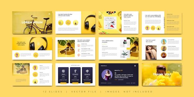 Minimales design für kreative präsentationen