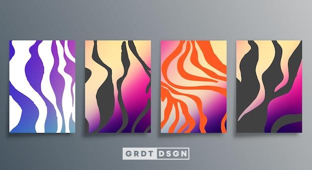 Minimales farbverlaufsdesign für flyer, poster, broschürencover, hintergrund, tapeten, typografie oder andere druckprodukte. vektor-illustration.