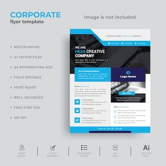 Minimales flyer-design für unternehmen