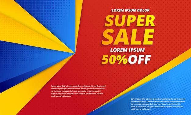 Minimales geometrisches abstraktes banner. super sale banner.