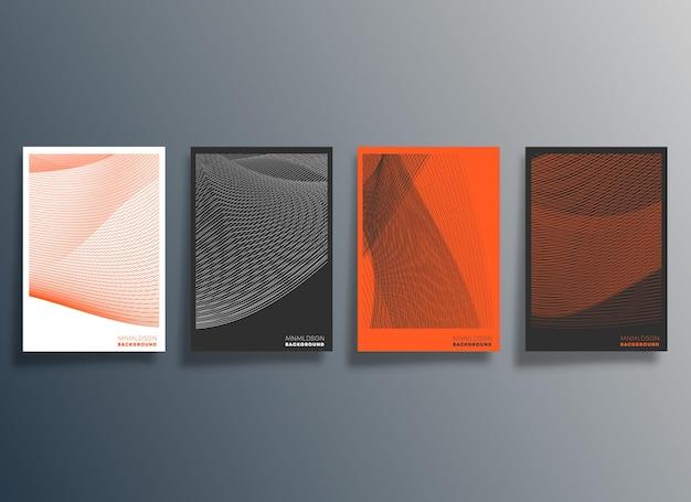 Minimales geometrisches design für flyer, poster