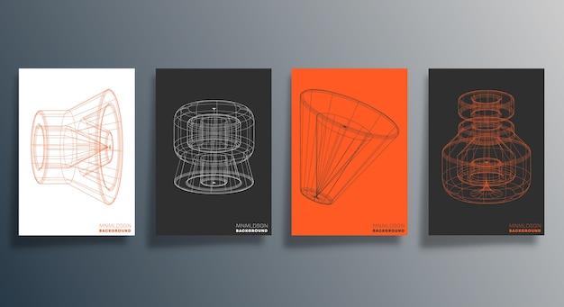 Minimales geometrisches design für flyer, poster.
