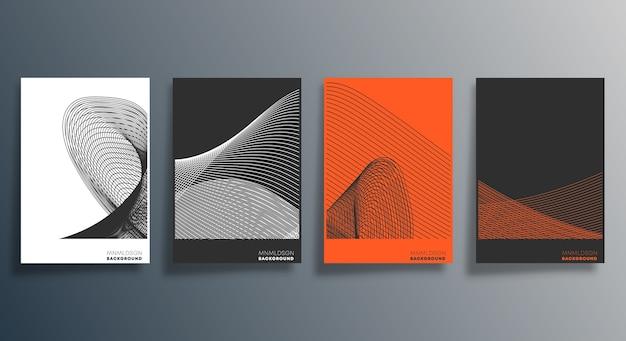 Minimales geometrisches design für flyer