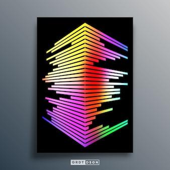 Minimales geometrisches plakatdesign.