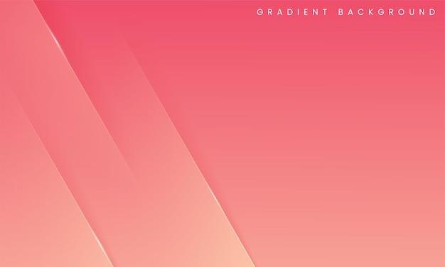 Minimales geometrisches vorlagendesign des modernen abstrakten steigungsrosa-pfirsichhintergrundes