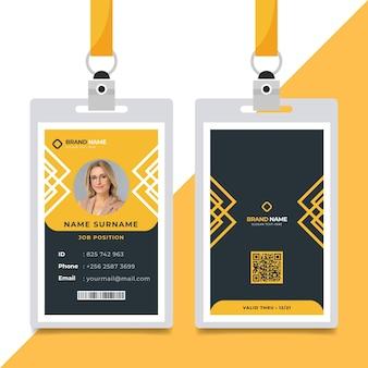 Minimales id-karten-vorlagenkonzept