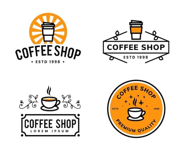 Minimales kaffee-logo-schablonendesign