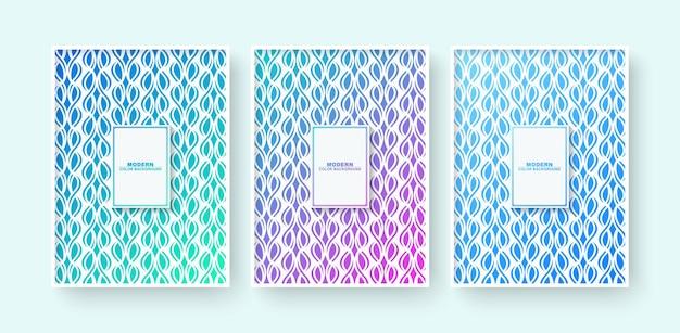 Minimales modernes cover-design mit abstrakter geometrischer linie