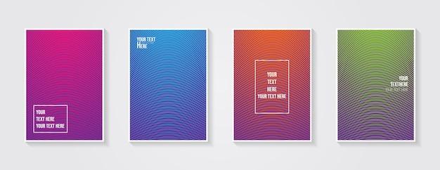Minimales modernes coverdesign dynamische bunte farbverläufe zukünftige geometrische muster