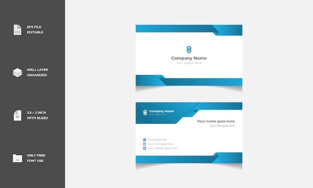 Minimales modernes stilvolles visitenkarten-vorlagen-design