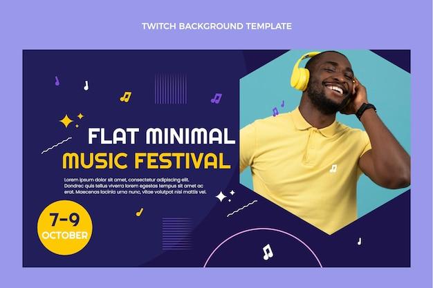 Minimales musikfestival des flachen designs zuckender hintergrund