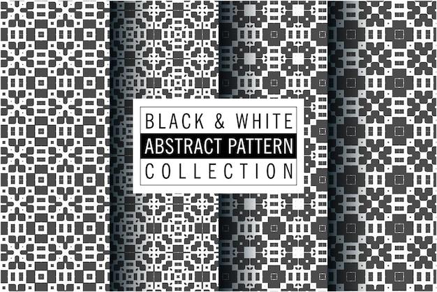 Minimales muster im schwarz-weiß-farbdesign