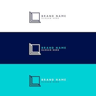 Minimales quadrat logo design konzept