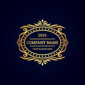 Minimales vintage-luxus-logo