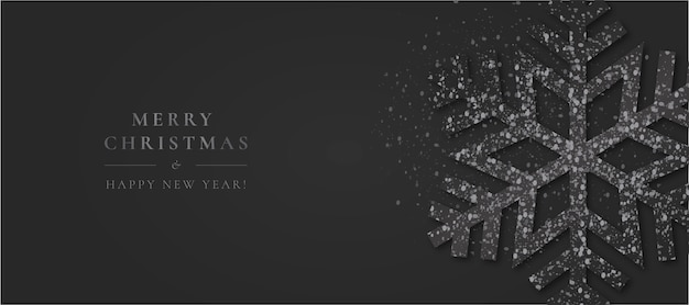 Minimales weihnachten mit eleganter schneeflocke