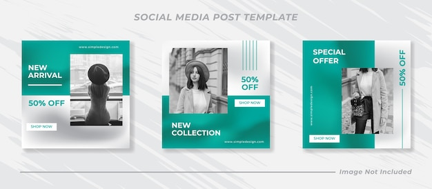 Minimalis instagram post template set set