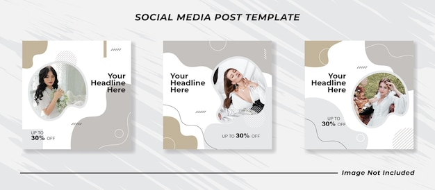 Minimalis instagram post template set