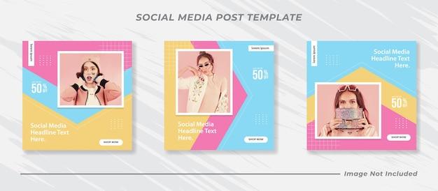 Minimalis social media post vorlagensammlung instagram mode