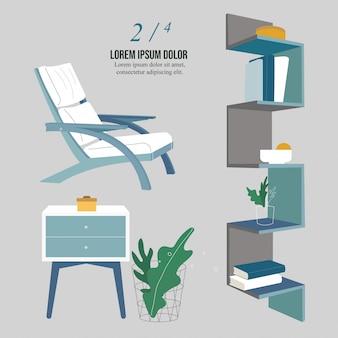 Minimalism modern interior collection