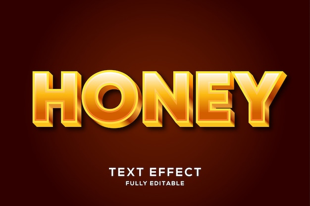 Minimalist bold honey editable text effect