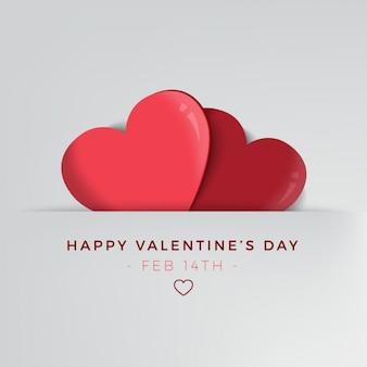 Minimalist hintergrund für valentinstag