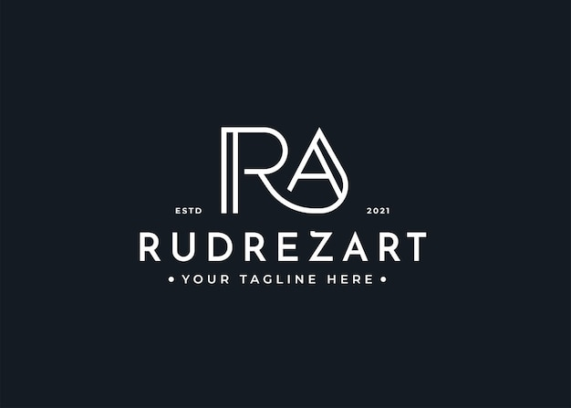 Minimalist letter ra logo-design-vorlage