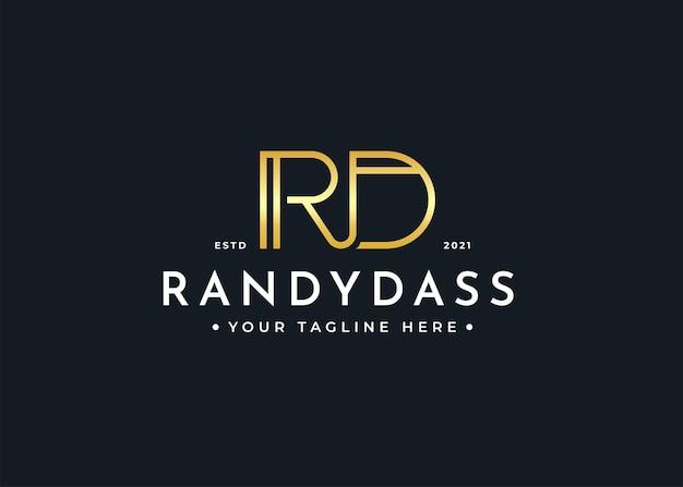 Minimalist letter rd luxus-logo-design-vorlage
