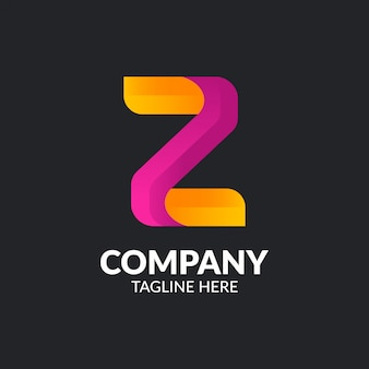 Minimalist letter z logo vorlage