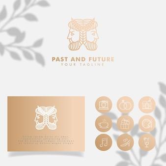Minimalist logo editable template