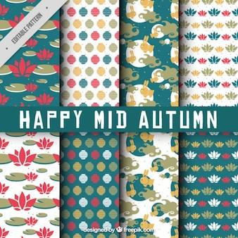 Minimalist muster der mid-autumn festival zu feiern