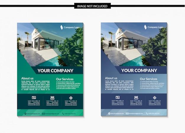 Minimalist real estate flyer schablonendesign in a4