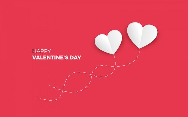 Minimalistic valentinstag hintergrund