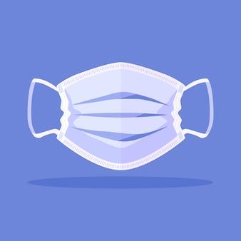 Minimalistisch illustrierte medizinische maske