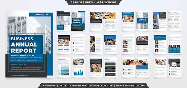 Minimalistische a4-business-broschürenvorlage premium-stil