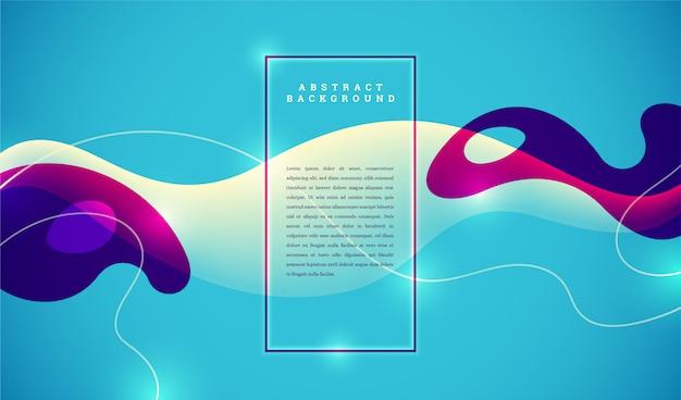 Minimalistische abstrakte banner im flüssigen stil.