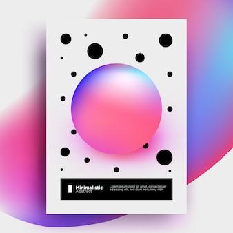 Minimalistische abstrakte plakatvorlage