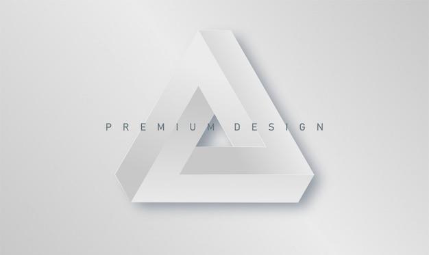 Minimalistische abstrakte premium-design-abdeckung mit papier penrose dreieck poster