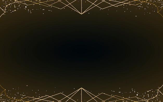 Minimalistische art deco tapete mit dekorativem gold glitter