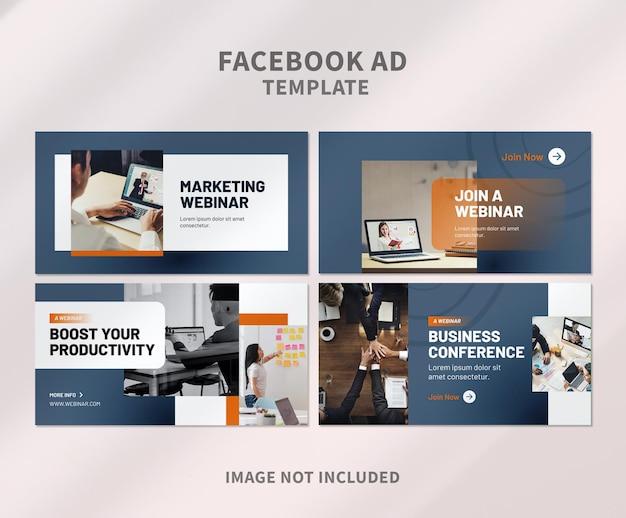Minimalistische banner-facebook-werbung
