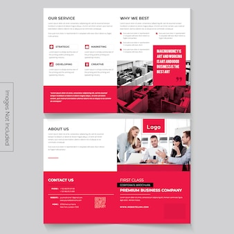 Minimalistische bi-fold-broschüre
