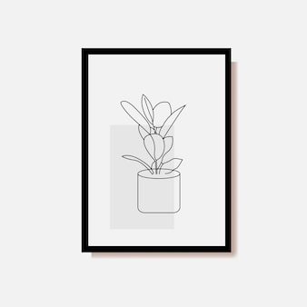 Minimalistische botanische kunst