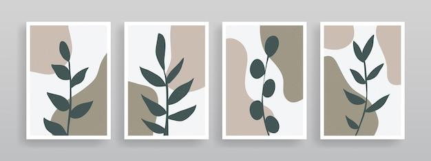 Minimalistische botanische wandkunst