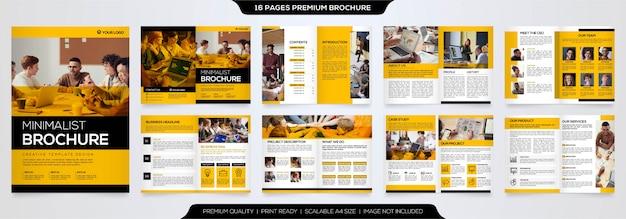 Minimalistische broschüre vorlage premium vektor