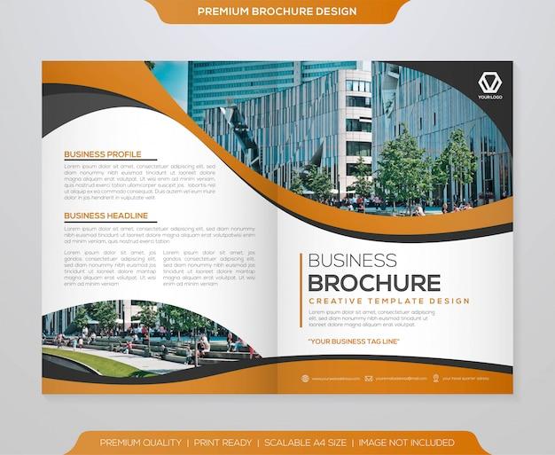 Minimalistische broschüre vorlagendesign