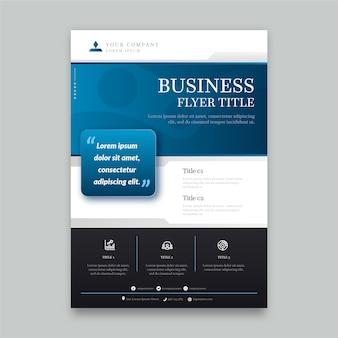 Minimalistische business-flyer-vorlage