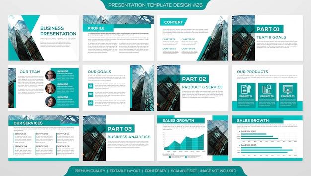Minimalistische business-präsentationsvorlage