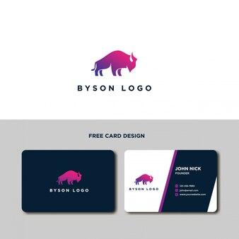 Minimalistische byson logo design template