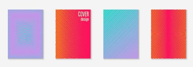 Minimalistische cover-vorlage mit farbverläufen festgelegt
