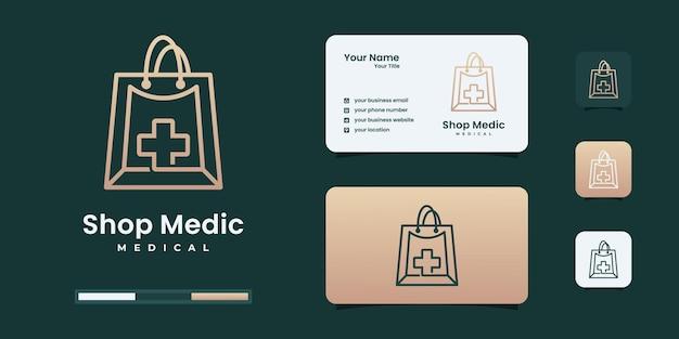 Minimalistische designvorlage für das medizinische logo des shops. logo für gesund, medizin, medizinisch.